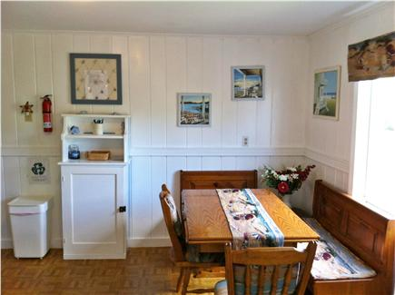 West Yarmouth Cape Cod vacation rental - Eat in kitchen with extendable table