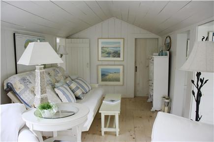 Dennis Bayside Cape Cod vacation rental - The opposite side of the room has a new queen-sized futon