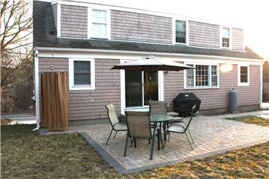 Downtown Chatham Cape Cod vacation rental - Patio with outdoor shower