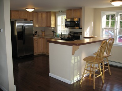 Downtown Chatham Cape Cod vacation rental - Kitchen with Bar Seating for two (now freshy painted)