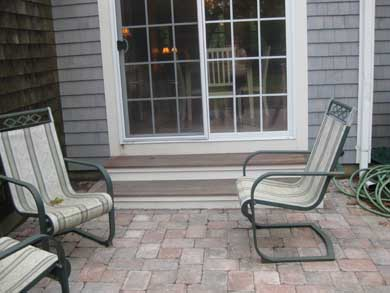Dennisport Cape Cod vacation rental - Step through French Doors to Stone Patio
