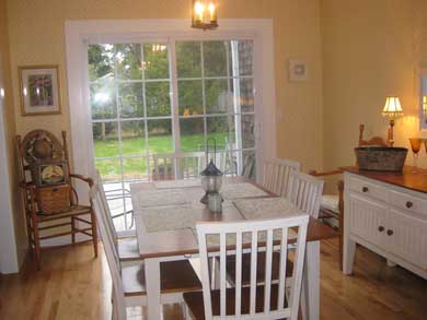 Dennisport Cape Cod vacation rental - Dining Room with view of Stone Patio