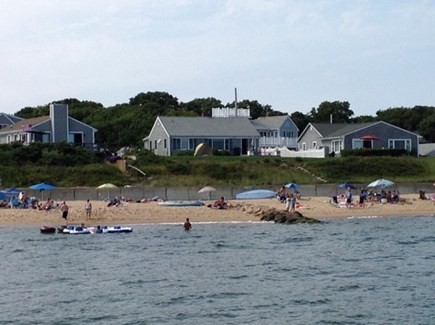 New Seabury, Popponesset Beach  New Seabury vacation rental - House and beach from boat