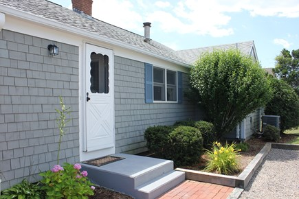 New Seabury, Popponesset Beach  New Seabury vacation rental - Back door and driveway