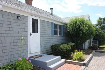 New Seabury, Popponesset Beach  New Seabury vacation rental - Back door and driveway