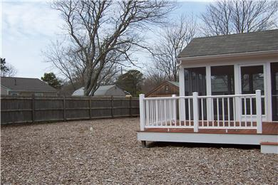 West Yarmouth Cape Cod vacation rental - Back yard with deck