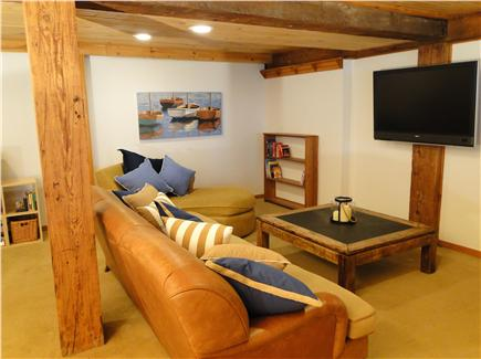 Brewster Cape Cod vacation rental - Rec room with flatscreen TV, books and games