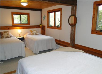 Brewster Cape Cod vacation rental - Family bedroom with queen and two twins