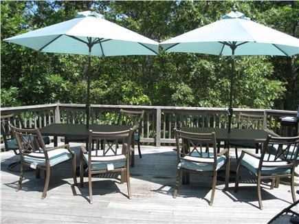 Brewster Cape Cod vacation rental - Deck - Main House (with sliding doors to Kitchen and Family Room)