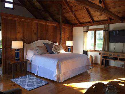Brewster Cape Cod vacation rental - Master Bed and flatscreen TV - Guest House