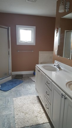 West Dennis Cape Cod vacation rental - Bathroom with double sink