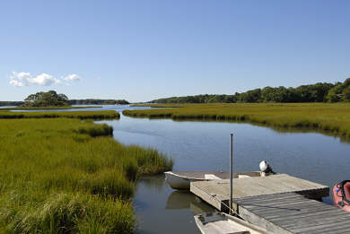 Mashpee Cape Cod vacation rental - Hamblin's Pond with deepwater access to Vineyard Sound