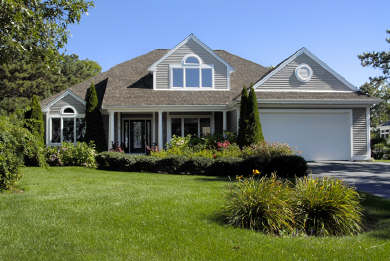 Mashpee Cape Cod vacation rental - Front view of 6 bedroom home