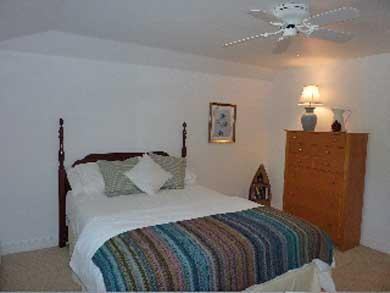 Mashpee Cape Cod vacation rental - Pool view guest bedroom with private bath