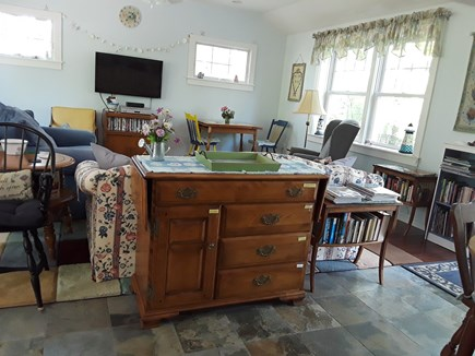 Eastham, Great Pond Area Cape Cod vacation rental - Welcoming living area with mini libraries with books for all ages