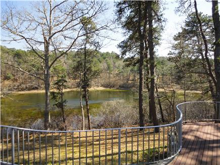 Chatham Cape Cod vacation rental - Pond view from wrap-around deck.