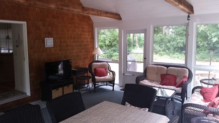 North Eastham Cape Cod vacation rental - 16 x 20 Screened in Porch with cathedral ceiling