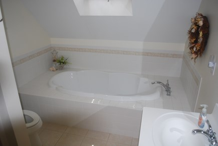North Eastham Cape Cod vacation rental - 2nd Floor Main Bath with shower, soaking tub and double sinks