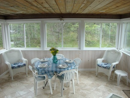 Eastham Cape Cod vacation rental - 3 Season - Screened In Porch with Dining Area