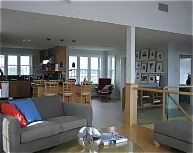 Sandwich/Sagamore Beach Sagamore Beach vacation rental - Upstairs living room , sitting area with flat screenTV & kitchen