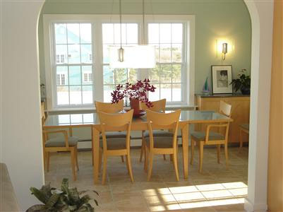 Sandwich/Sagamore Beach Sagamore Beach vacation rental - Dining room leads to a small deck with gas grill