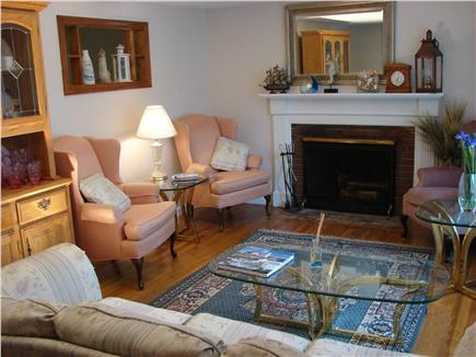 West Yarmouth Cape Cod vacation rental - Lovely living room with fireplace