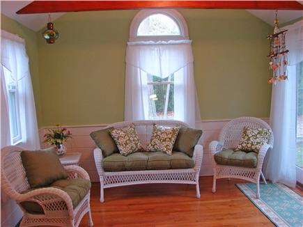 West Yarmouth Cape Cod vacation rental - Brand new sunroom with vaulted ceiling and ceiling fan