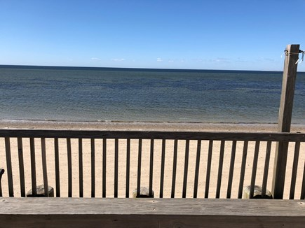 Truro Cape Cod vacation rental - Beach from the deck on the sea wall
