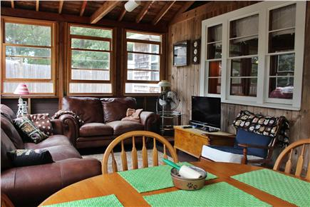 South Dennis Cape Cod vacation rental - Enclosed porch with Cable TV and WIFI