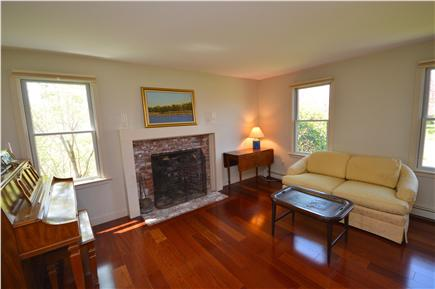 East Orleans Cape Cod vacation rental - Living Room 3- Quiet seating by fireplace