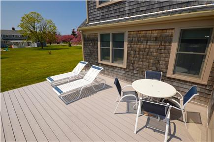 East Orleans Cape Cod vacation rental - Back Deck for sunning/ dining by Living Room 1