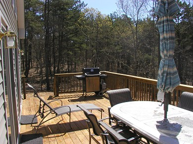 Wellfleet Cape Cod vacation rental - Looking East on the Deck