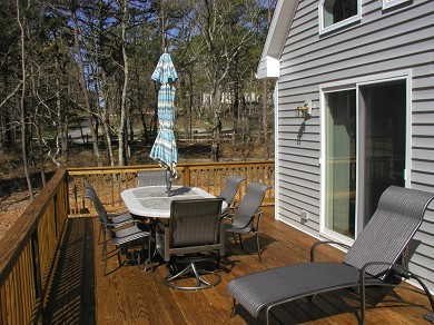 Wellfleet Cape Cod vacation rental - Looking West on the Deck Toward Delphi Path