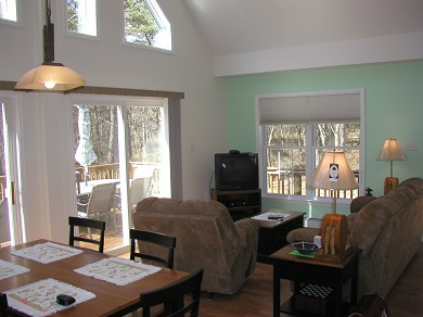 Wellfleet Cape Cod vacation rental - Living-Kitchen-Dining Area