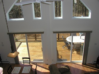 Wellfleet Cape Cod vacation rental - Looking Down From the Top of the Stairs Toward the Deck