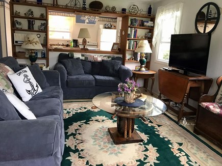 Bass River / South Yarmouth Cape Cod vacation rental - Living Room with Gas Fireplace
