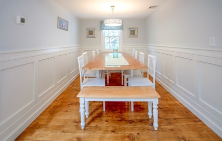 New Seabury, Popponesset, Mash New Seabury vacation rental - New Dining area with Wainscoting for 2018. Seats 10-12.