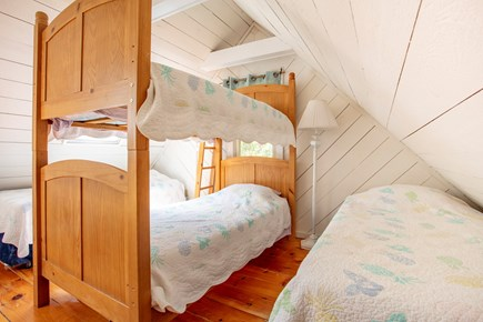 New Seabury, Popponesset, Mash New Seabury vacation rental - Stairs lead to Loft Area with 4 Twin Beds - Kids Will Love it!!!