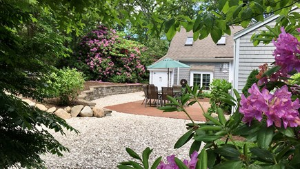 New Seabury, Popponesset, Mash Cape Cod vacation rental - One of Two Private Patios Surrounded By Flowering Plants
