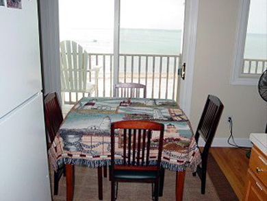 Truro Cape Cod vacation rental - Dining area with sliders to deck