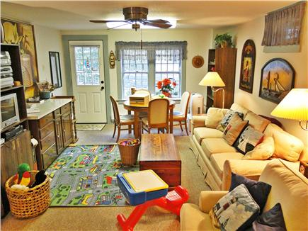 Chatham Cape Cod vacation rental - Downstairs play room with many toys, books, TV, walk out access