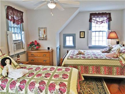 Chatham Cape Cod vacation rental - Upstairs bedroom with queen and twin bed, ceiling fan, A/C unit
