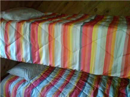 Falmouth New Silver Beach Cape Cod vacation rental - Bunk beds in small 4th bedroom. Full sized twin mattresses.