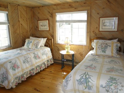 Falmouth New Silver Beach Cape Cod vacation rental - Lower twin bedroom, adjacent to living room
