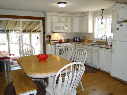 Falmouth New Silver Beach Cape Cod vacation rental - Bright, newly refinished kitchen, opens to porch