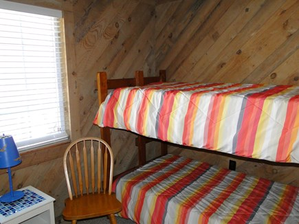Falmouth New Silver Beach Cape Cod vacation rental - Upstairs bunk bed room with flat screen TV