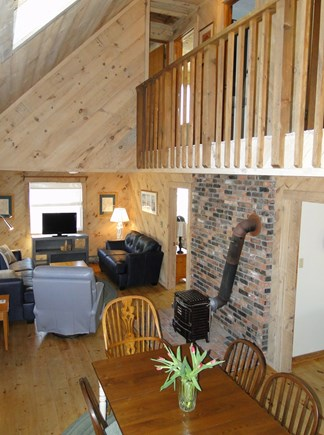 Falmouth New Silver Beach Cape Cod vacation rental - View from the stairs, cathedral ceiling