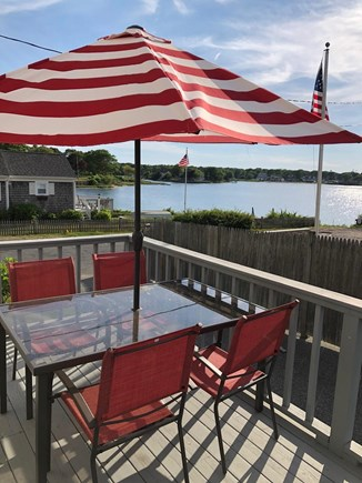 West Yarmouth Cape Cod vacation rental - Deck with view of water