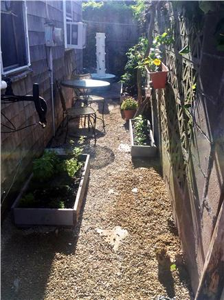 Provincetown Cape Cod vacation rental - garden on side of the cottage