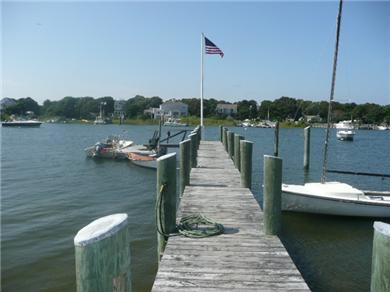 Mashpee, South Cape Beach Cape Cod vacation rental - 83 foot dock with 8'x16' float and ramp.